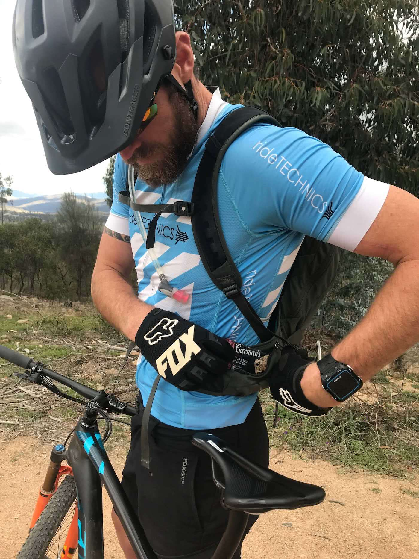 Osprey Raptor 10 Riding Pack // Gear Review by Rowan Beggs-French cycling backpack, rock garden, mountain biking, backpack detail, snack pocket