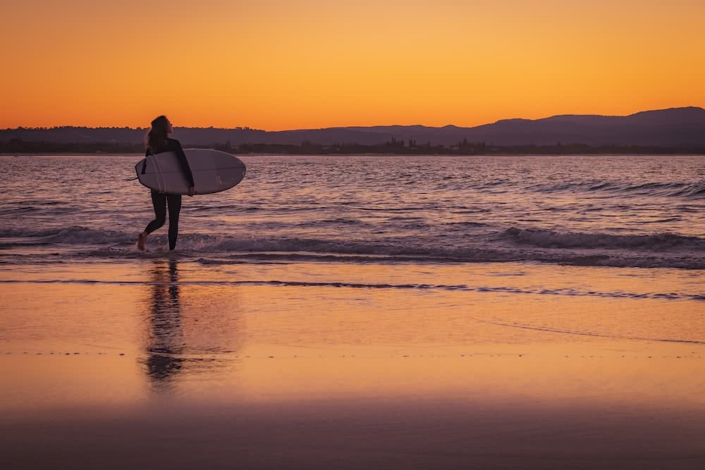 Stunning Coastal Photography From Our Canon Collective Workshops, photo by colleen kempys, Byron Bay, surfing Sunset surfer