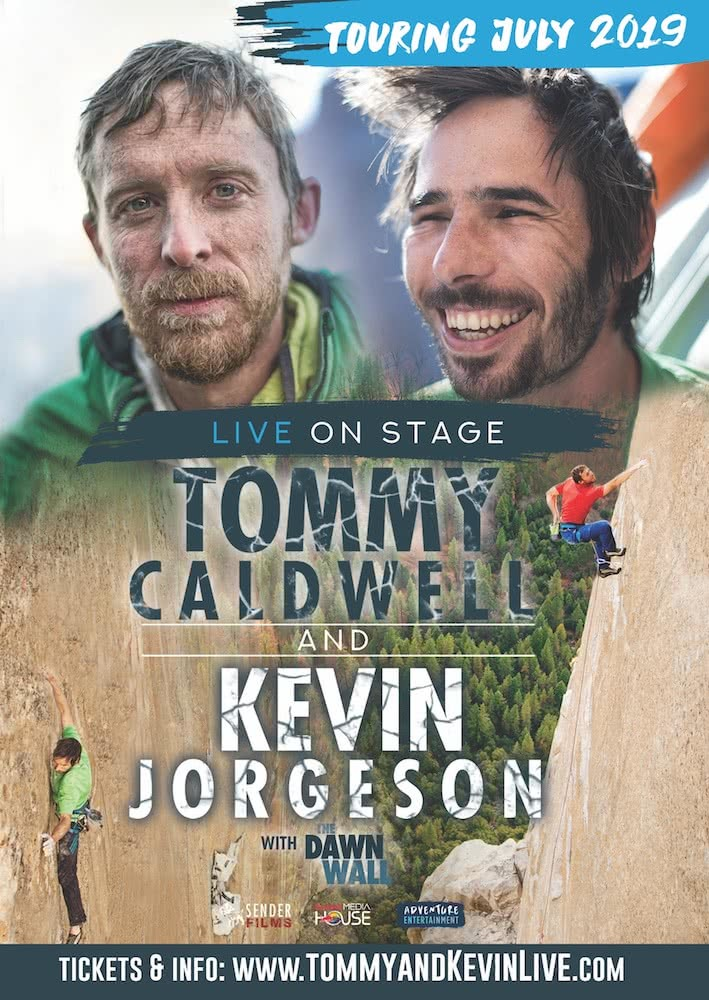 The Dawn Wall, Tommy & Kevin speaking tour, poster