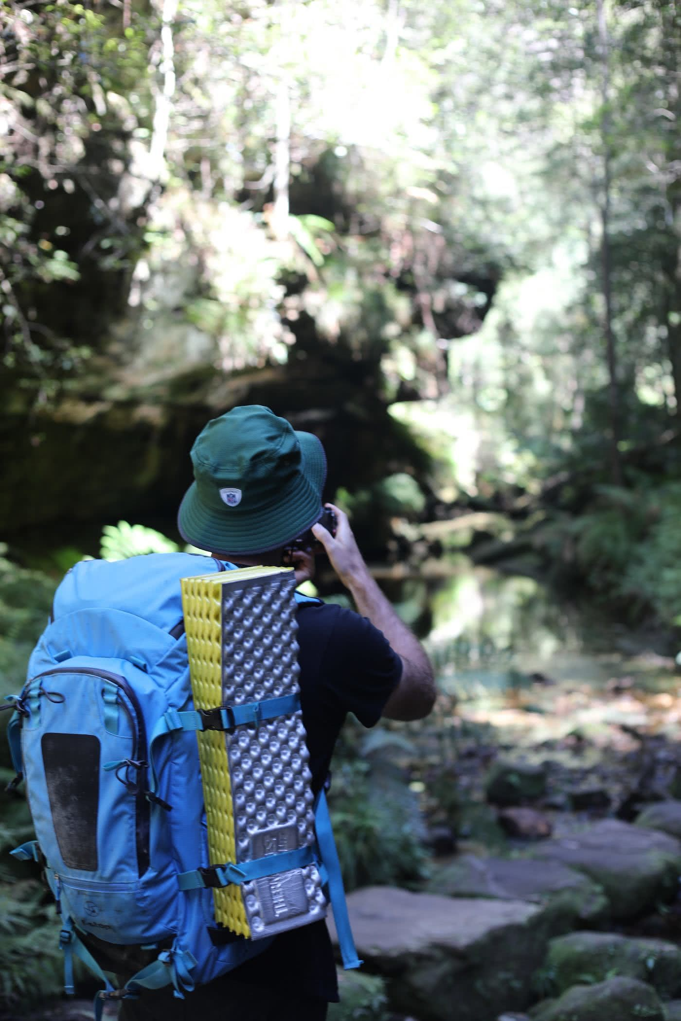 Explorers guide to hiking with a camera, photo by Mattie Gould hiking, photography blue mountains, camera backpack