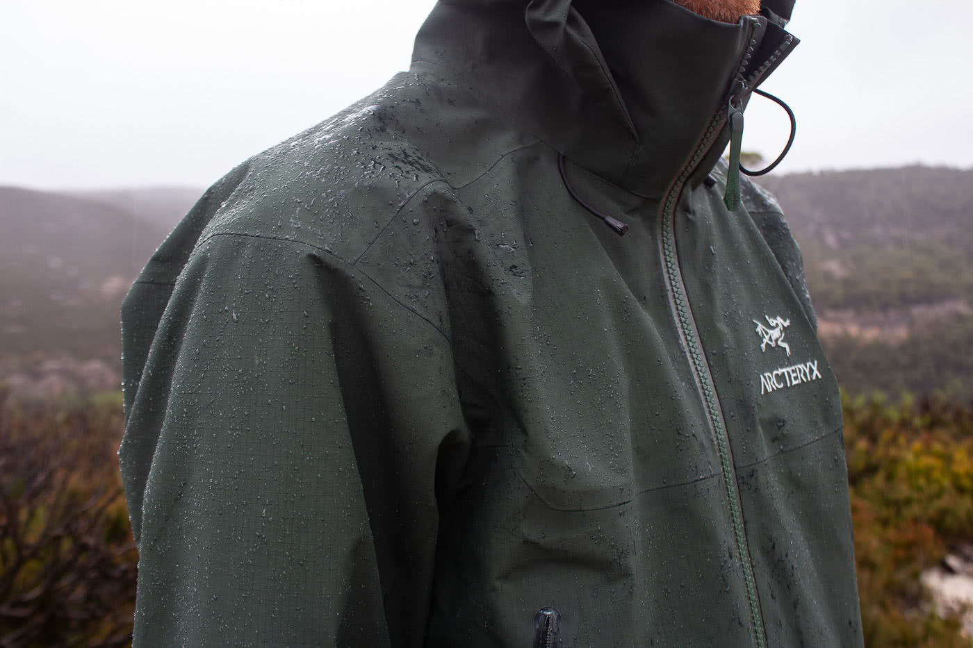 Arc'teryx Beta AR and Alpha SV Waterproof Jackets // Gear Review by Mike Ashelford full zip