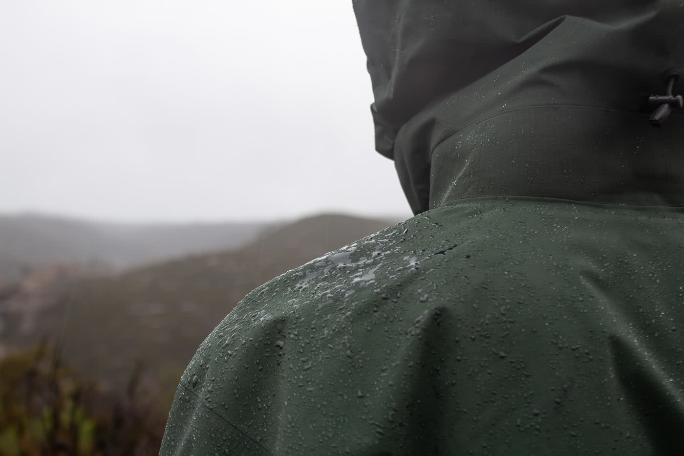 Arc'teryx Beta AR and Alpha SV Waterproof Jackets // Gear Review by Mike Ashelford beading on the jacket