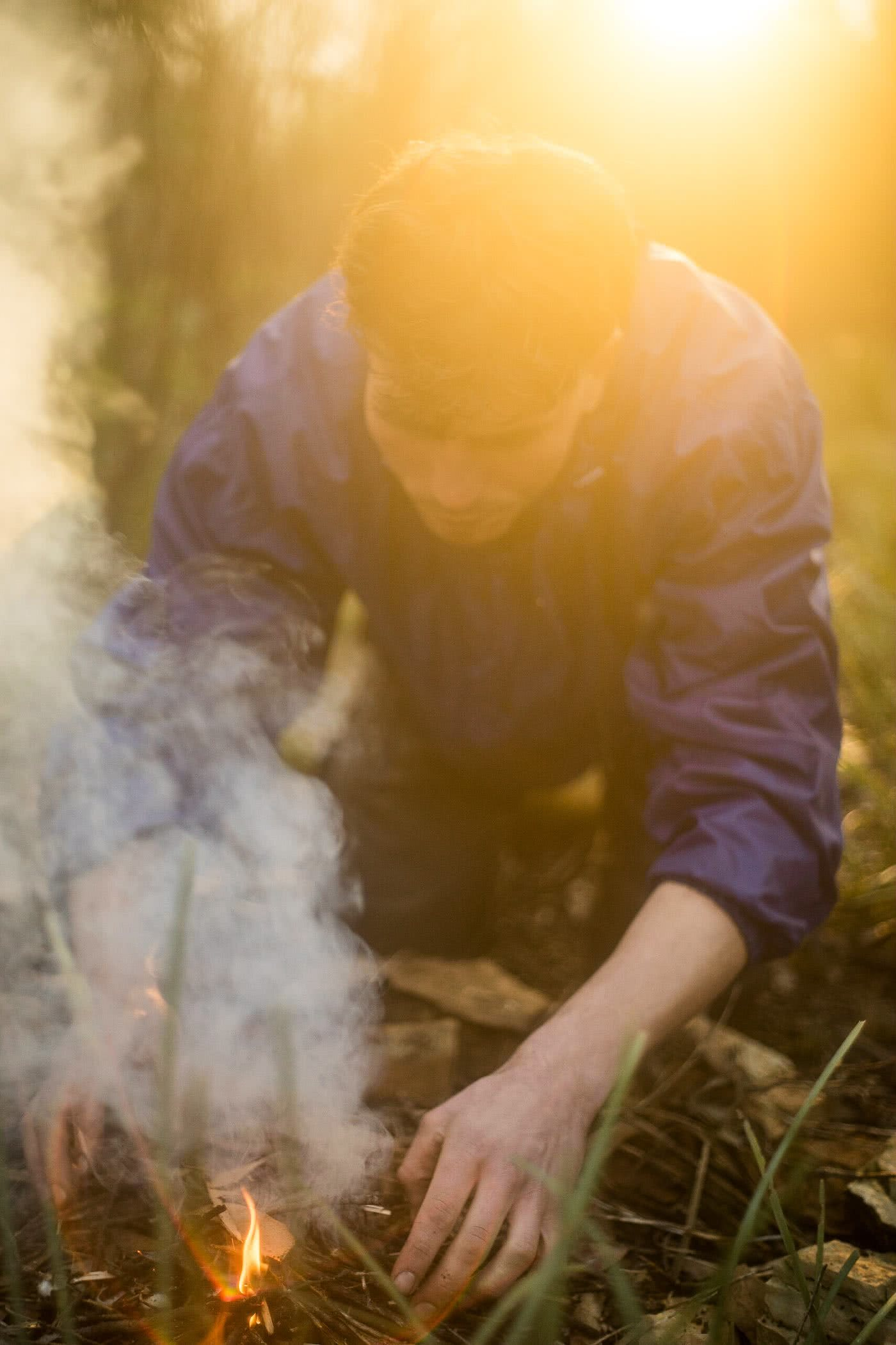 Knowing When To Call It by Lachie Thomas hiking, soggy camp fire