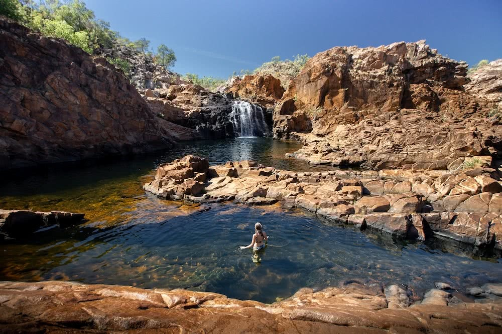9 Top End Waterholes That Are Perfect For Wild Swimming, Edith Falls_Katie Goldie, top end, northern territory