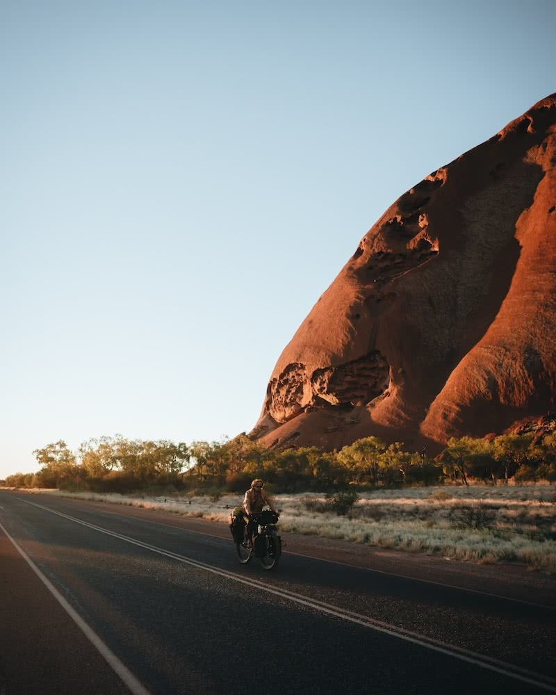 Expedition Dust Reaches Halfway // An Interview With Brando Yelavich, photo by Ain Raadik, red centre, cycling, expedition dust