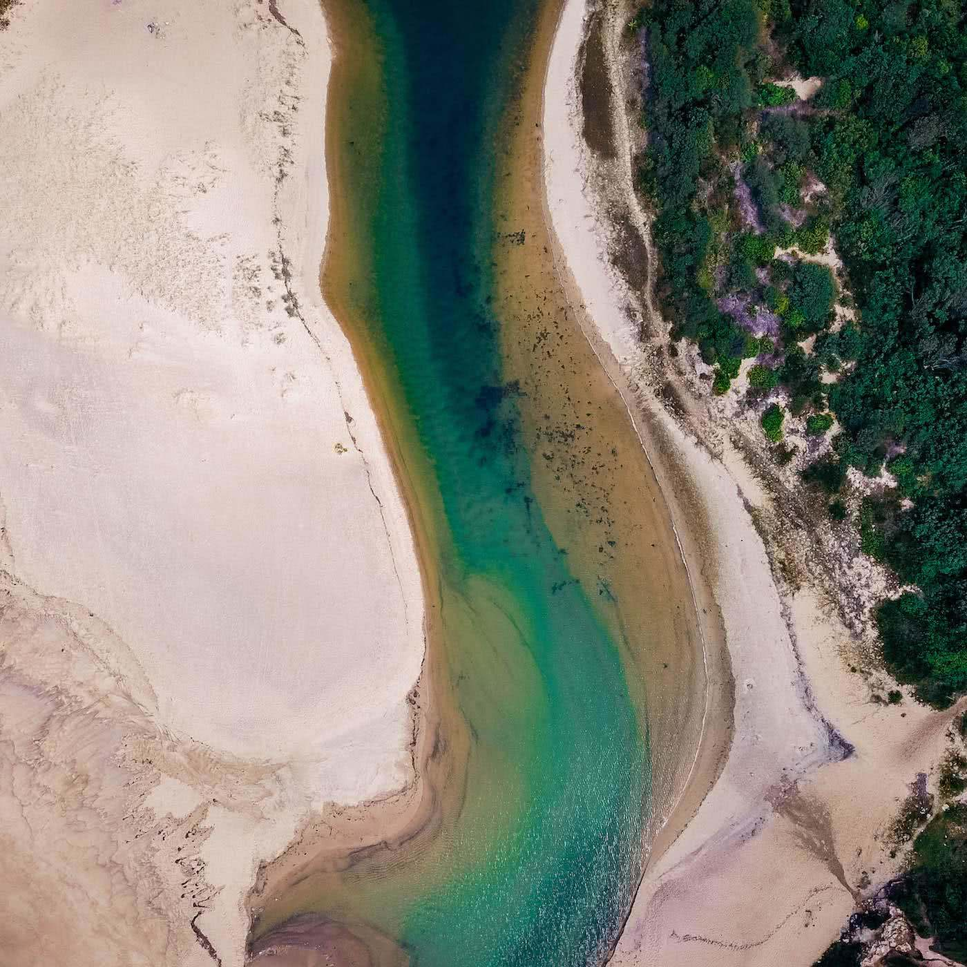 A hidden jungle - the yuelarbah track, by Damon Tually, drone shot of estuary