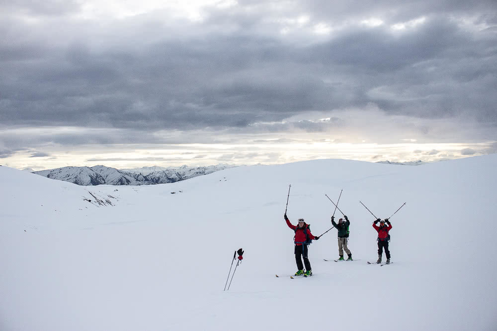 Fresh Tracks At Kirtle Burn Hut // Backcountry Skiing On The Pisa Range (NZ), photo by Tim Ashelford, snow farm, cardrona, wanaka, mt pisa, new zealand, south island, ski touring
