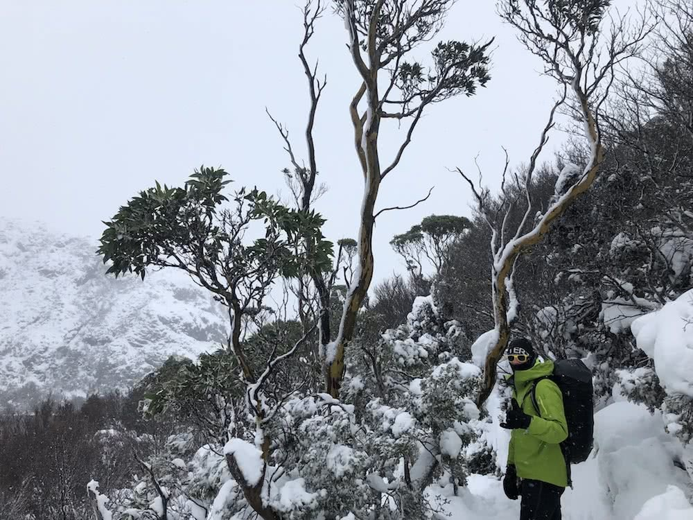 7 Rad Ways to Spend Your $1080 Tax Refund, photo by Tim Ashelford, Dominic Douglas, arc'teryx, overland track, crater lake, tasmania, snowshoeing