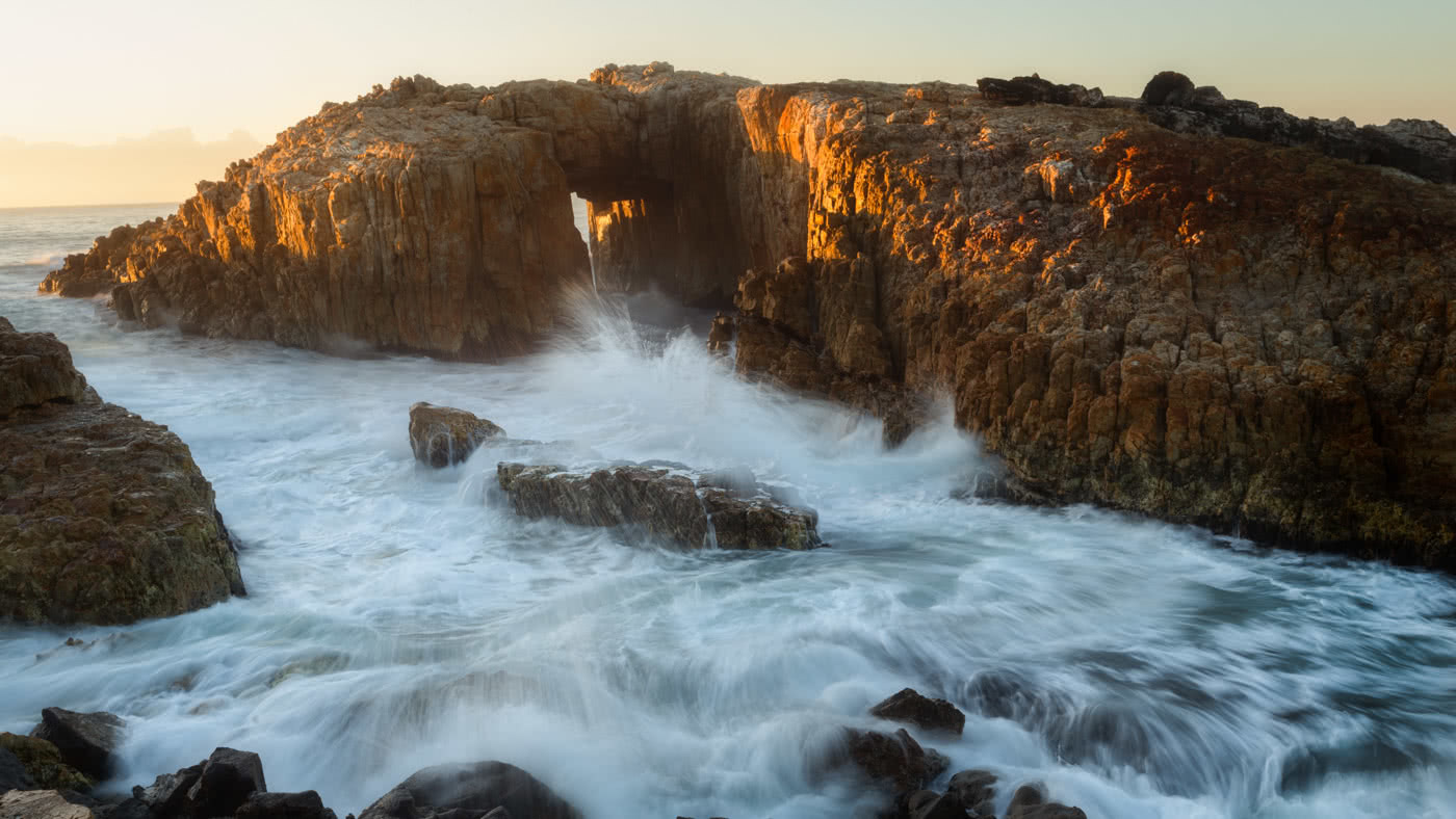 Searching for the sunshine // Crowdy Bay National Park by Conor Moore Diamond Head Beach sunset, coastline, Natural Arch