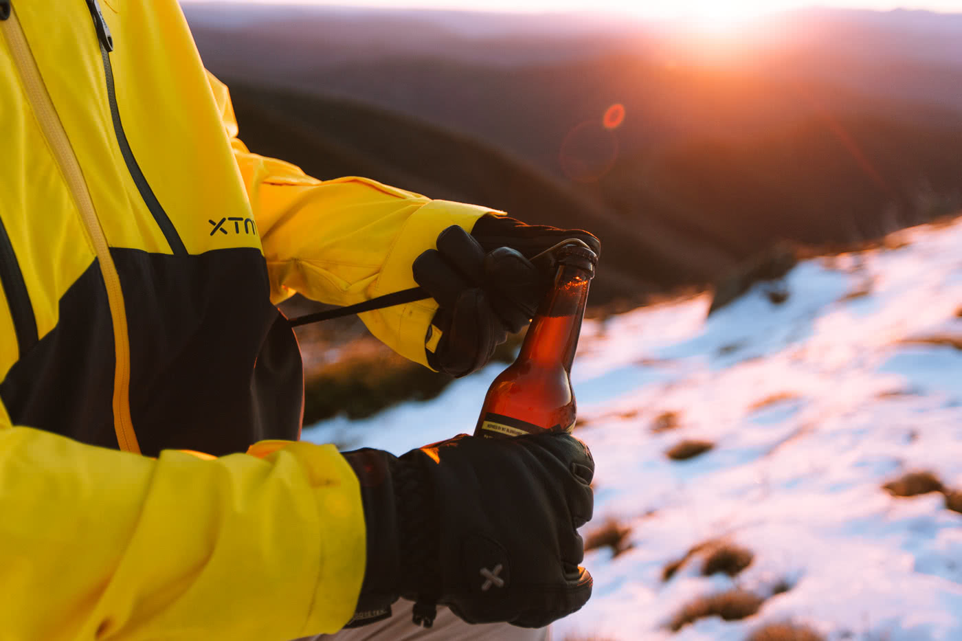 First-Time Alpine Hiking On Mt Buffalo (VIC) by Cedric and Melody Tang, XTM Performance jacket, beer pocket opener