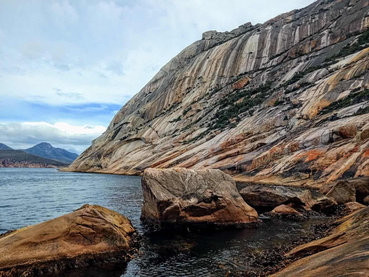 Searching for redemption on the Freycinet Sea Level Traverse, by Polly Barr, sunrise, flow stone