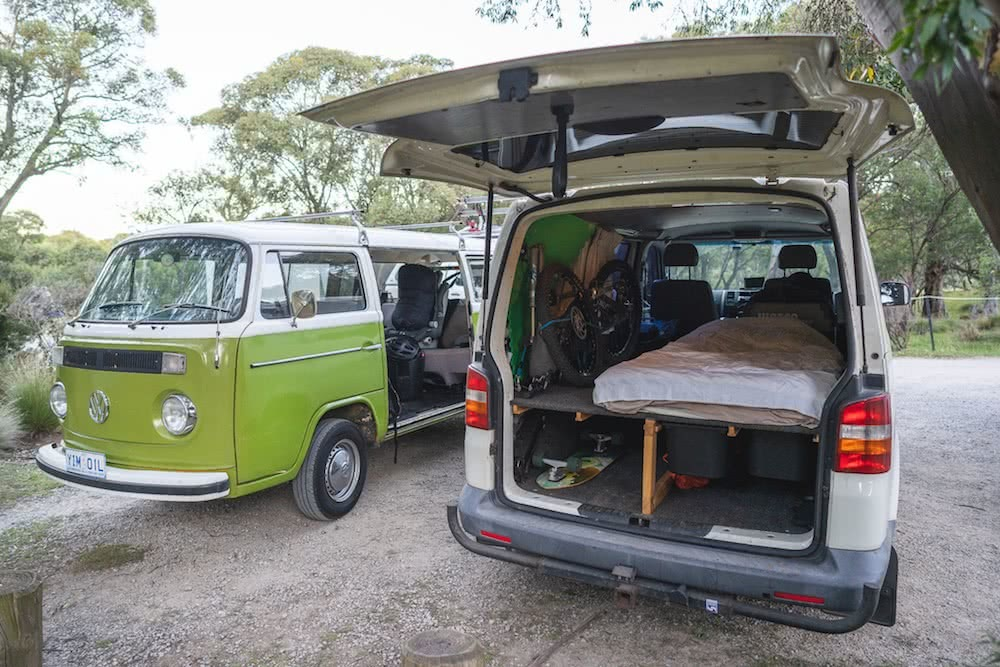 van setup, photo by jon harris, kombi, mattie gould, thredbo, kosciuszko national park