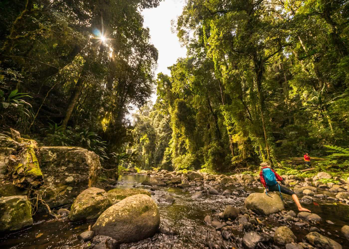 5 Reasons You Should Go Hiking In Queensland by Saphira Schroers, photo by Miranda_Fittock creek crossing