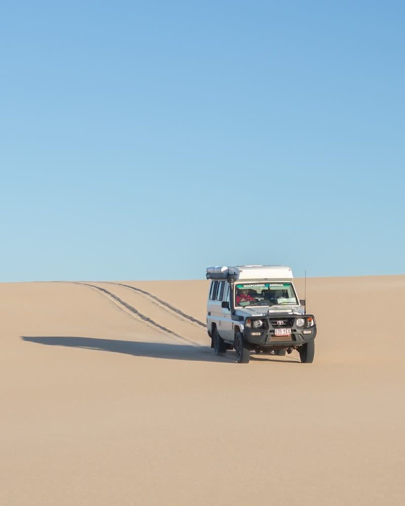 4wd life, toyota troop carrier, photo by conor moore, sand dunes