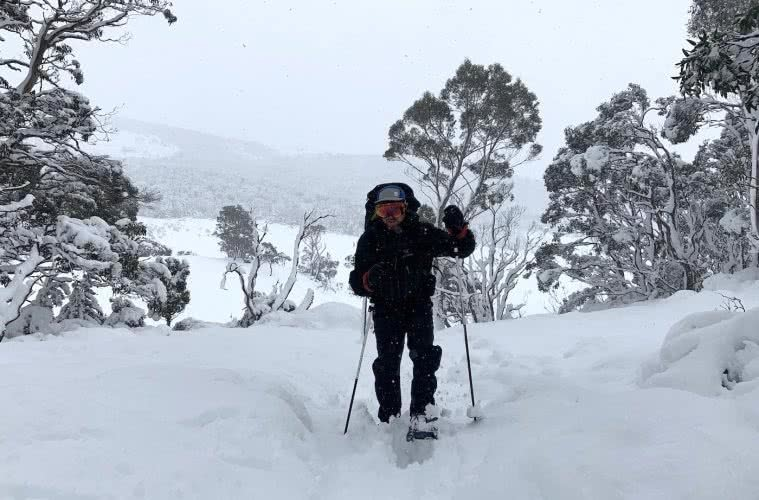 You Can Walk The Overland Track For Free (But There's A Good Reason), photo by Dom Douglas, overland track, cradle mountain lake st clair, multi day hike, snow, tasmania, snowshoe
