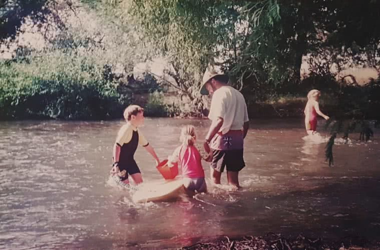 Kate Donald, Here's to the AdventureDadz™, river, boogyboard