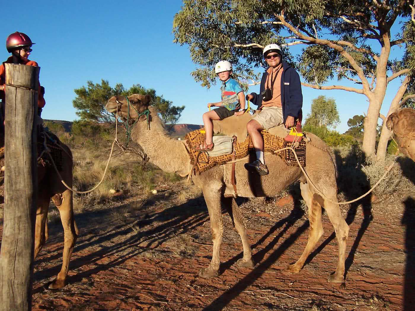 Here's to the AdventureDadz™, camel, father and son