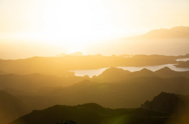 Aotea Track // Great Barrier Island (NZ) by Isobel Campbell, Sunset views from Mt Heale