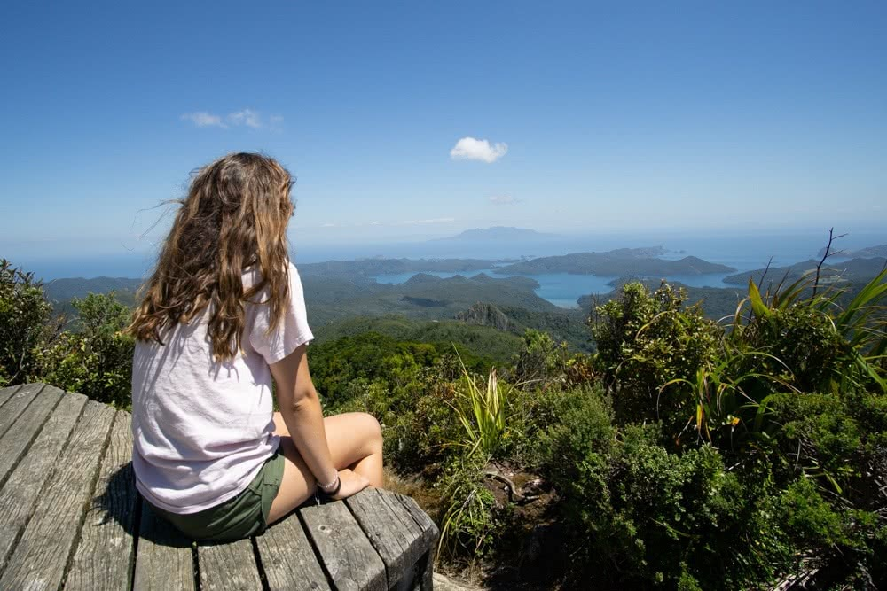 Aotea Track // Great Barrier Island (NZ) by Isobel Campbell, Top of Mt Hobson