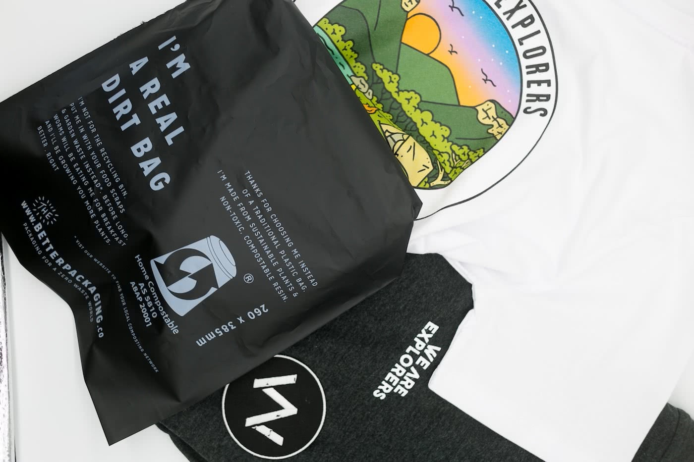 We Are Explorers Merch Store is Live, by Mattie Gould, WAE merch, serenity tee, compost bag, stormy arvo tee