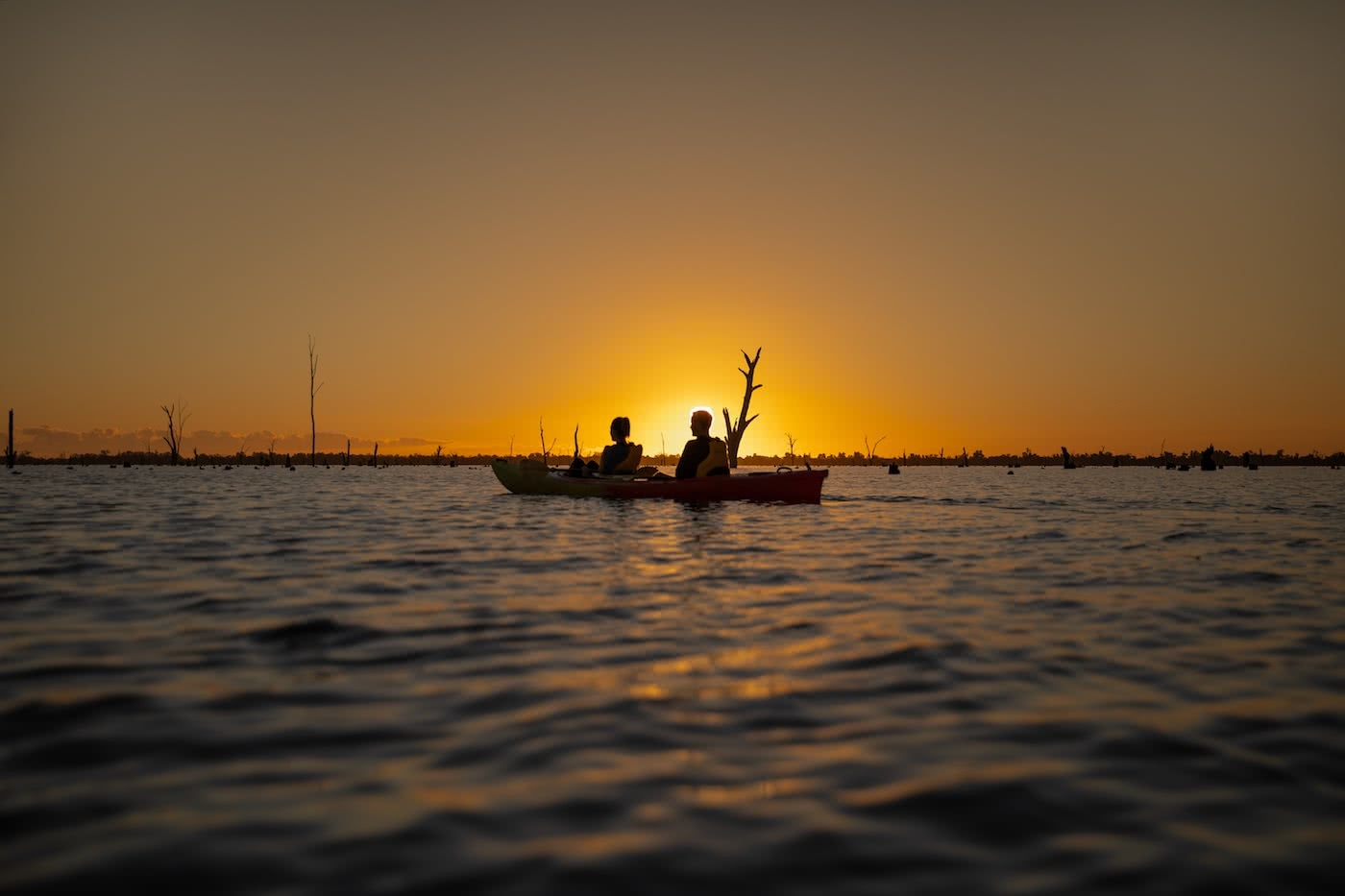 Will You Murray Me? – It's Time For A Murray Region Weekender by Conor Moore, kayaking, sunset