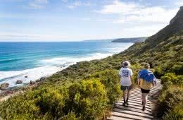 Quiet Camping & Cracking Clifftops // Aire River - Great Ocean Road (VIC), photo by Lachlan Fox, cliffs, waves, ocean, boardwalk