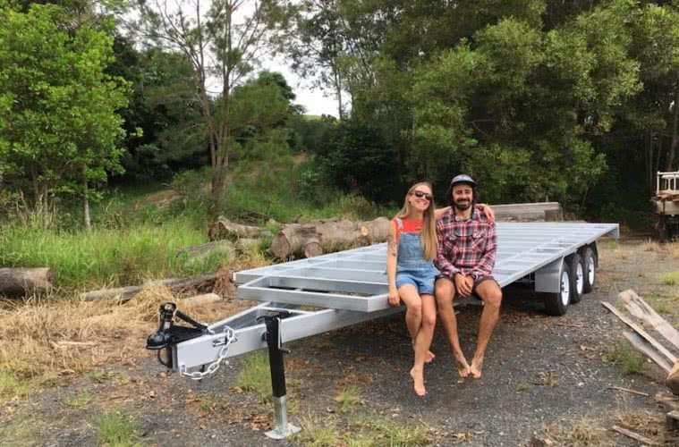 Alice Forrest, 6 Things I Learnt While Building My Tiny House, couple, trailer