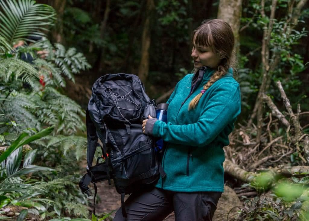 I Tested A Full Kit Of Cheap ALDI Hiking Gear Over Nearly 100km, hiking pack, woman, fern, Aldi