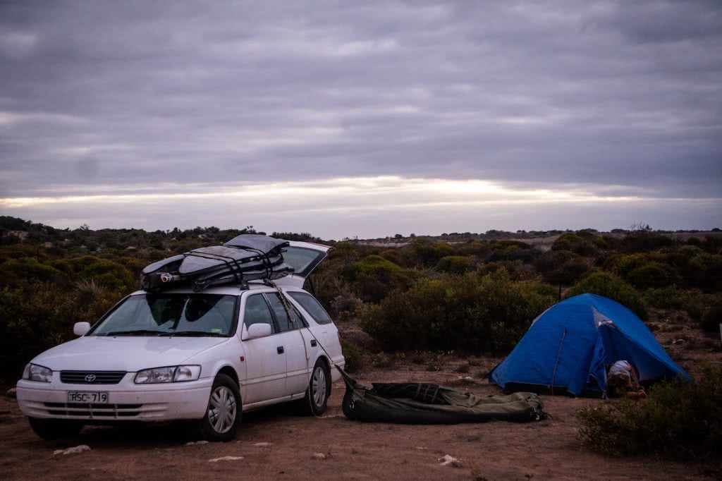 Barren, Wild & Clean // Road Trippin' The South Aus Coast, car, tent, desert