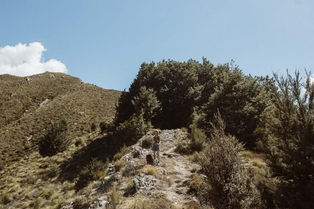 A Wrong Turn In The Right Direction // Sawyer Burn Track (NZ), track, woman, mountain