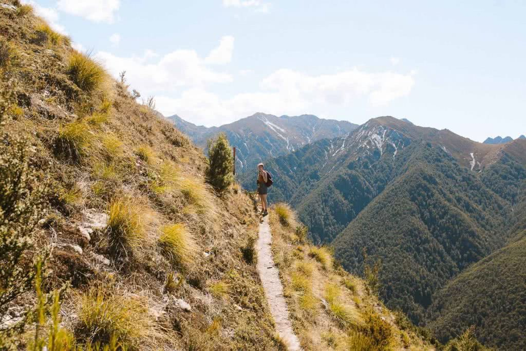 A Wrong Turn In The Right Direction // Sawyer Burn Track (NZ), track, woman, mountains, peaks