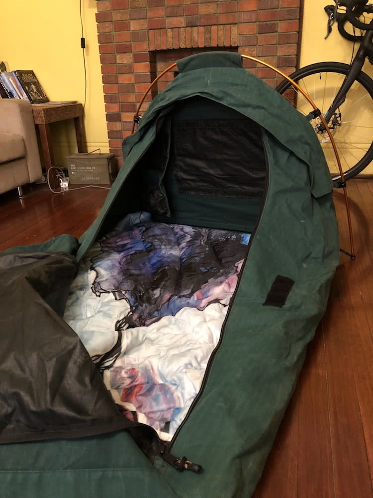 Rumpl Original Puffy Blanket // Gear Review, photo by tim ashelford, blue, swag