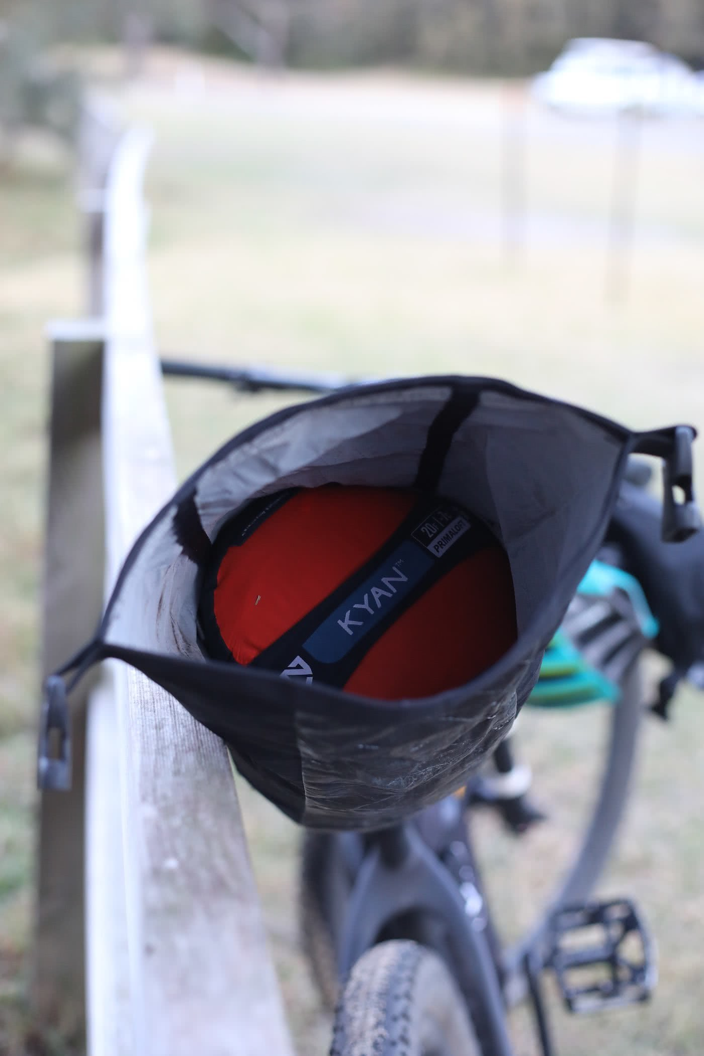 NEMO Kyan Mummy Bag & Tensor Ultralight Sleeping Pad // Gear Review by Mattie Gould Kyan bag on the bike