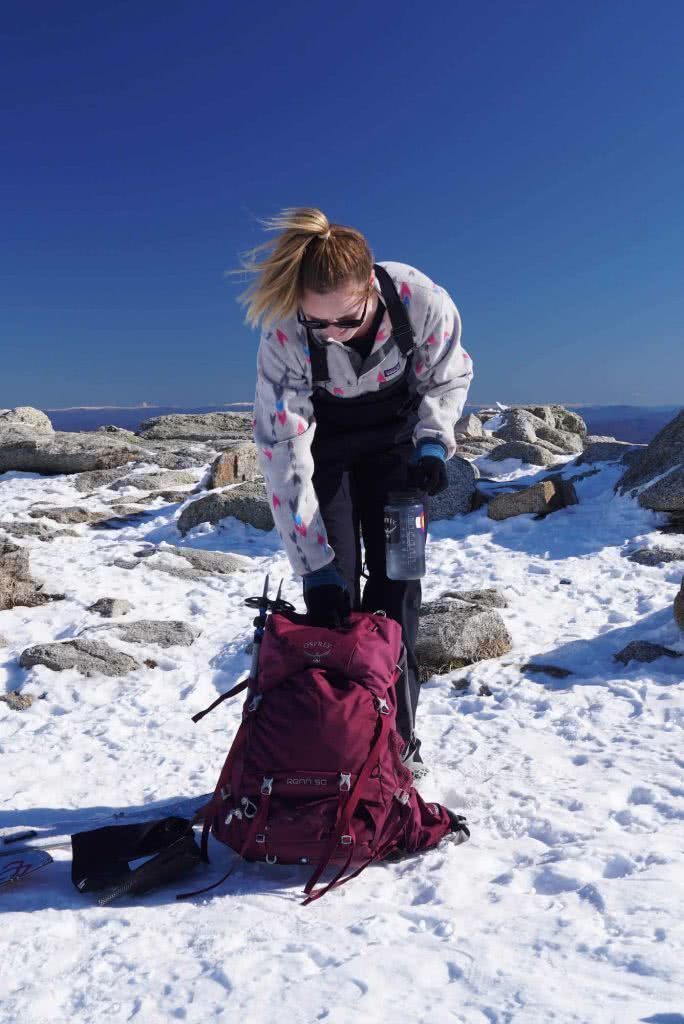 Osprey Renn 50L Pack // Gear Review, pack, woman, snow
