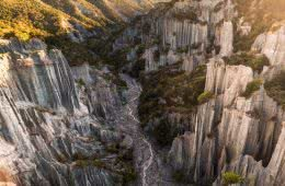 Playing Amongst The Putangirua Pinnacles (NZ), overhead view, rocks, pinnacles