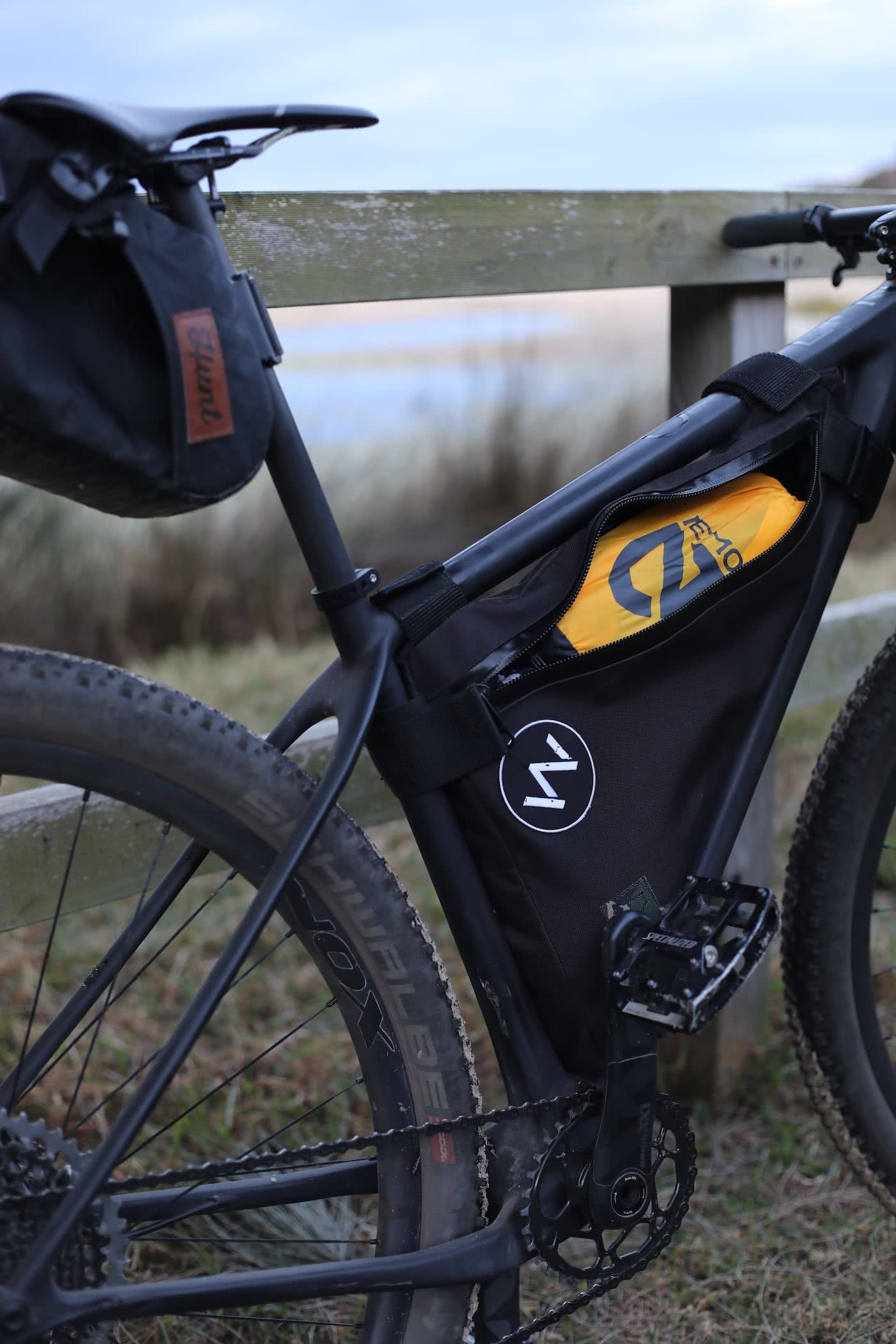 NEMO Kyan Mummy Bag & Tensor Ultralight Sleeping Pad // Gear Review by Mattie Gould Tensor mat in a bike bag