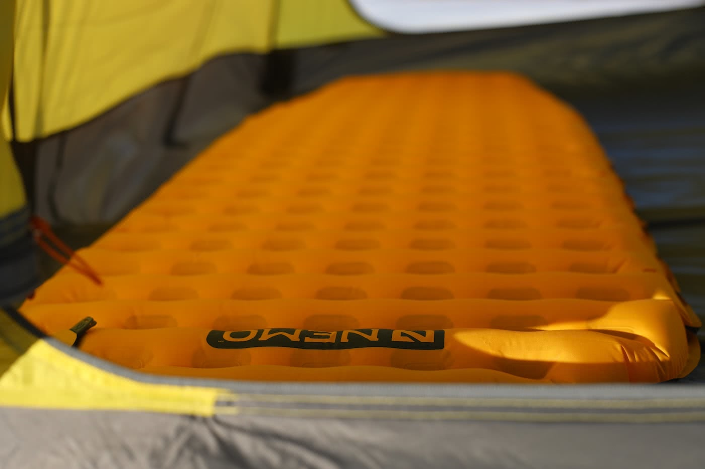 NEMO Kyan Mummy Bag & Tensor Ultralight Sleeping Pad // Gear Review by Mattie Gould Tensor mat on the mountain