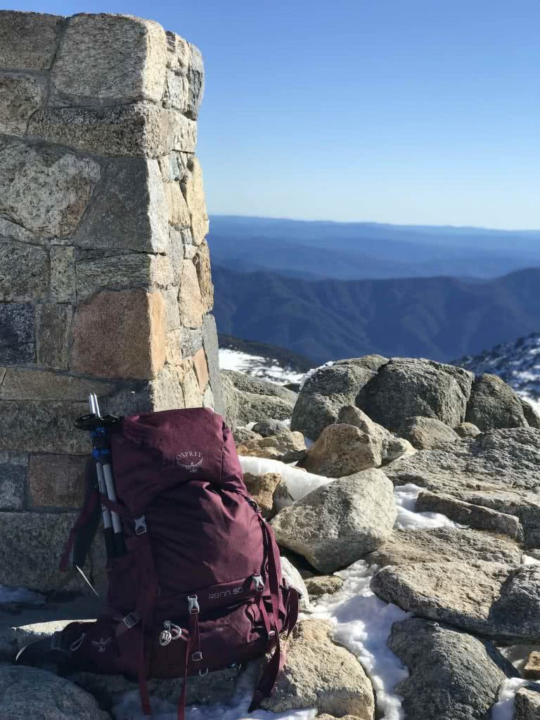 Osprey Renn 50L Pack // Gear Review, pack, hut, mountains
