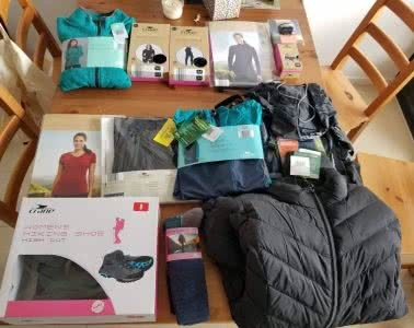 Saphira Schroers, I Tested A Full Kit Of Cheap ALDI Hiking Gear Over Nearly 100km, down jacket, fleece jumper, hiking boots, Aldi, undies, socks