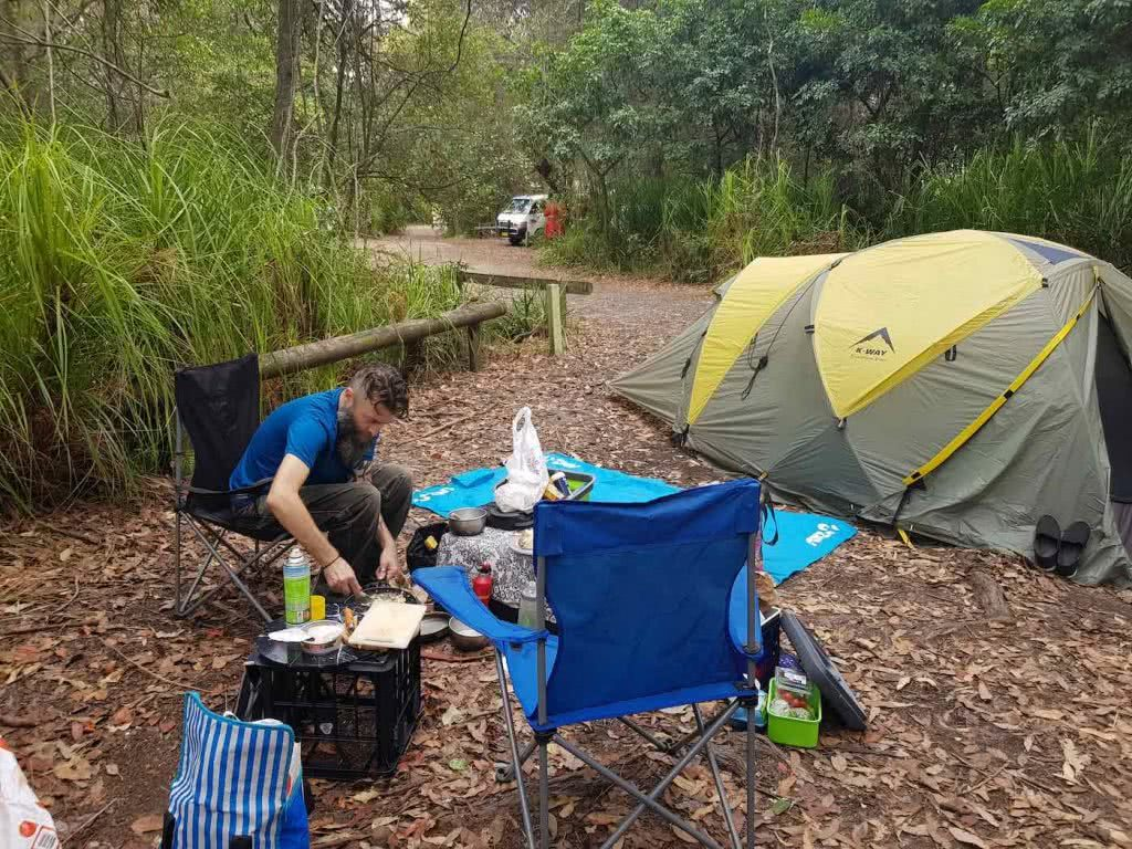 Renew Your Vows with the South Coast // Honeymoon Bay (NSW), Dan Slater, campsite, camping, tent