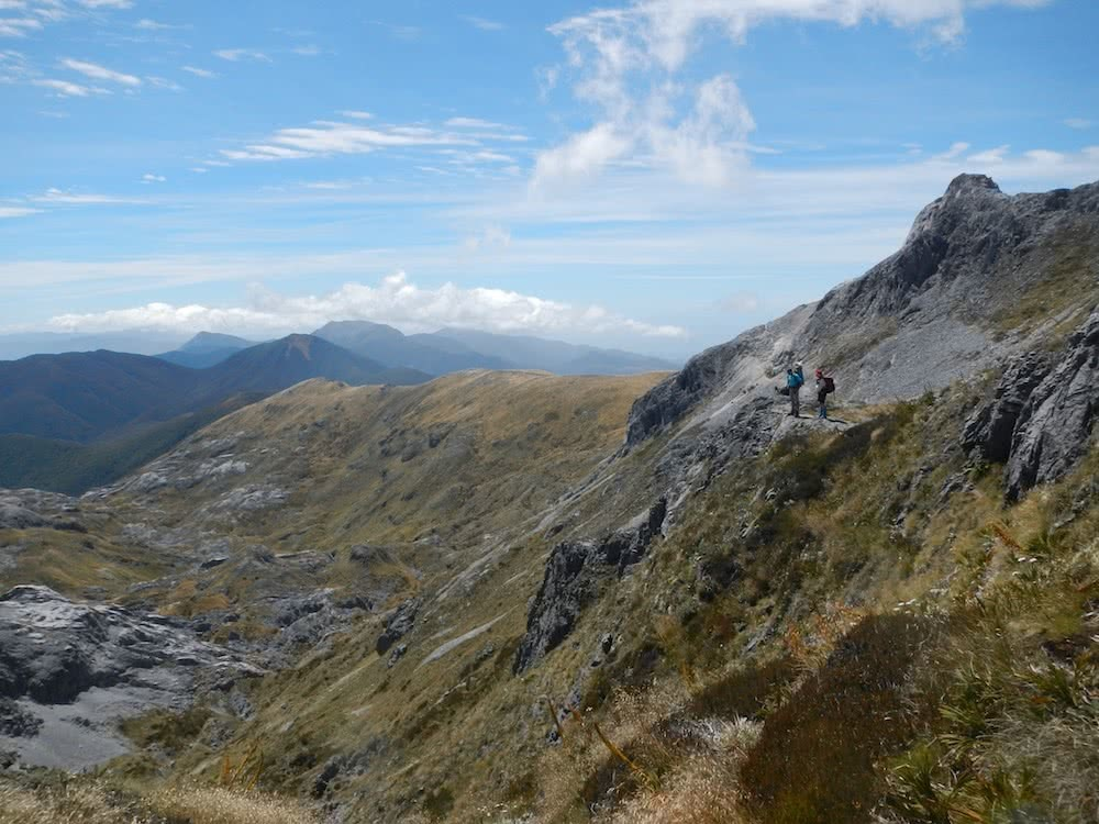 On the way up to Mt Arthur, photo by Myrthe Braam, Mt Arthur, hut hiking, Kahurangi National Park, New Zealand