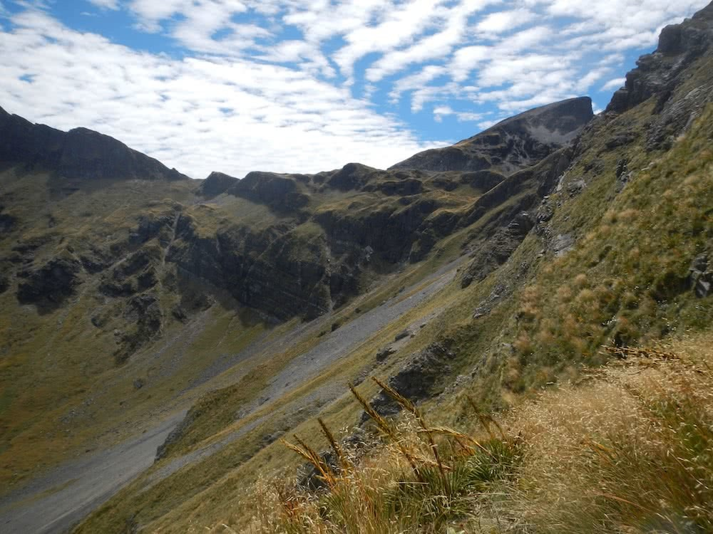 Looking back to Mt Arthur, photo by Myrthe Braam, Mt Arthur, hut hiking, Kahurangi National Park, New Zealand