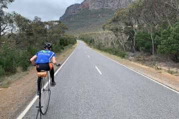 The Australian Penny Farthing Tour Just Wrapped Up In Melbourne, photo supplied by Dan Bolwell, cyclist, penny-farthing, mountain, road, ride, bike