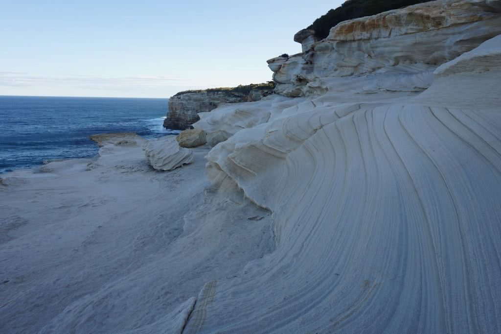 Choo-choo-choose the train for your next adventure, Amy Fairall, rocks, cliff, sandstone, Royal National Park, ocean