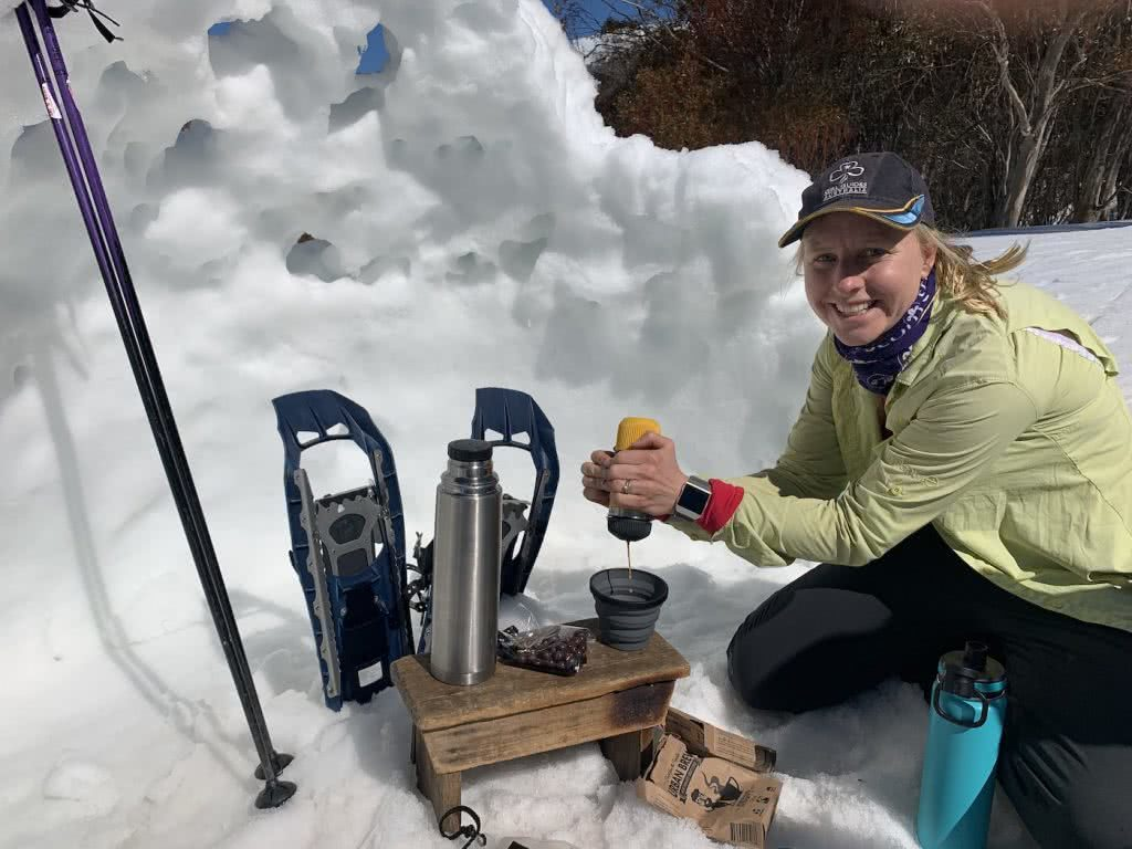 Check Out These Epic Views And Delicious Brews, Judy Hansen, snow, ice, woman, honey, coffee