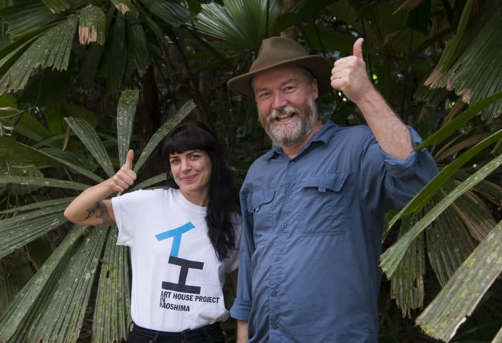 We're Buying A Hectare of Rainforest in Far North Queensland! Here's Why, Kate Stevens, Kelvin and Kate, thumbs up, trees