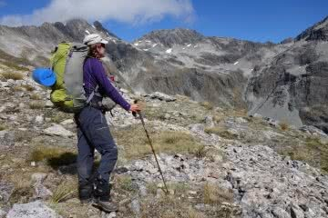 Bewildered // An Interview With Laura Waters by Mattie Gould, hiker, trail, hiking poles, backpack