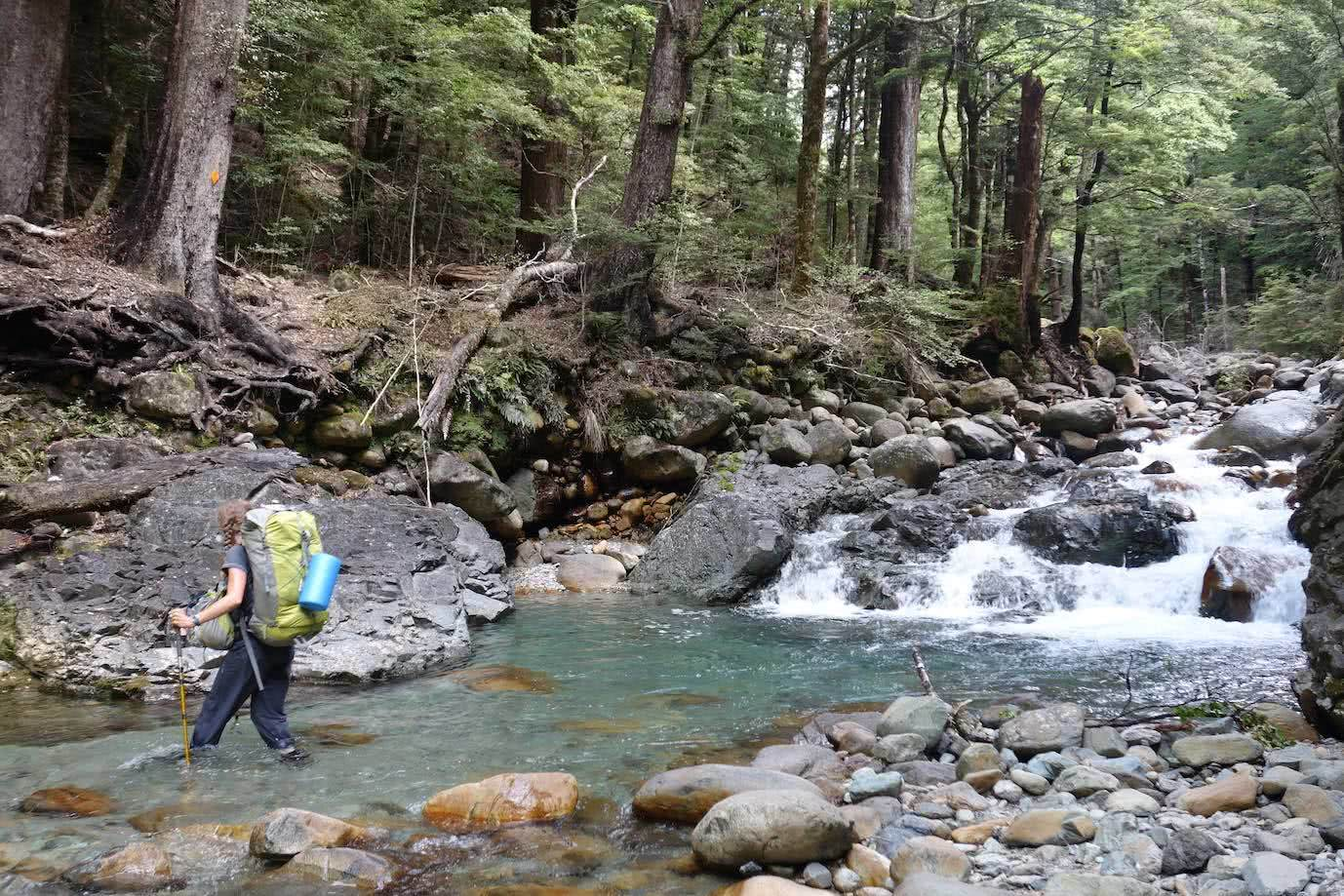 Bewildered // An Interview With Laura Waters by Mattie Gould, hiker, river crossing