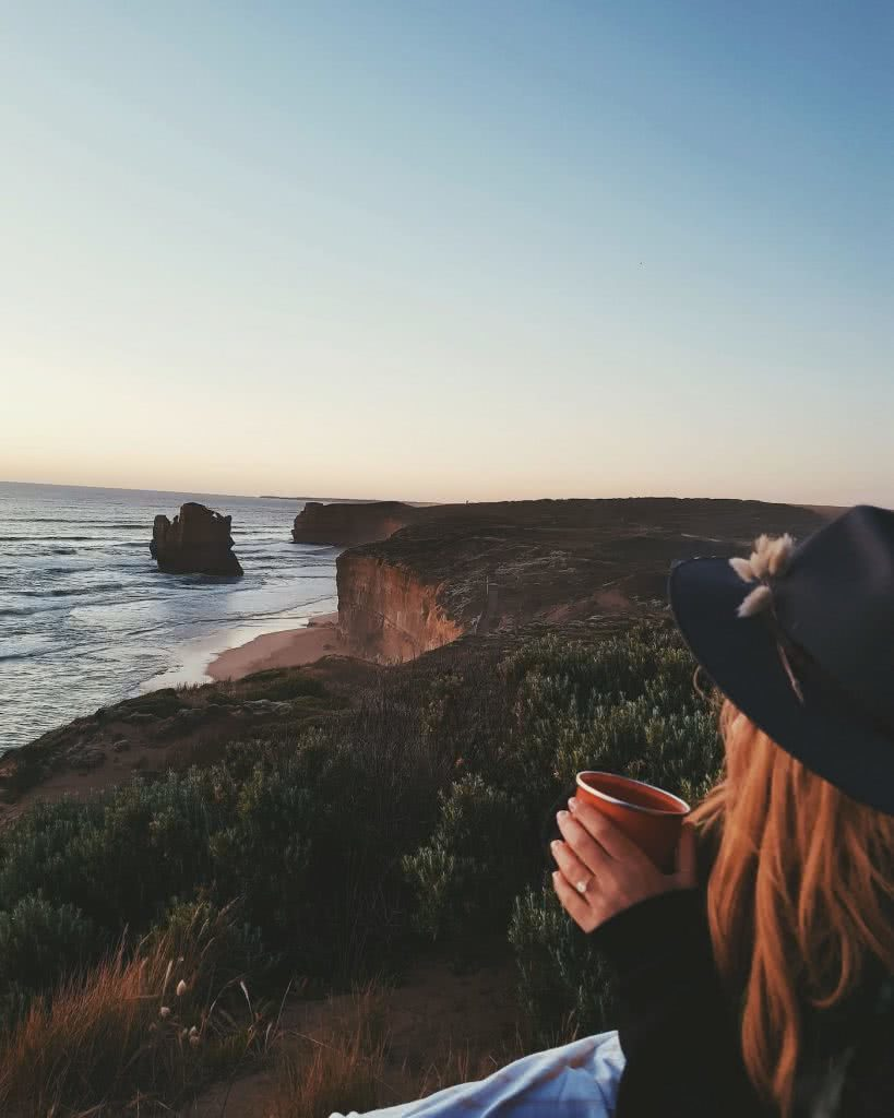 Check Out These Epic Views And Delicious Brews, Natalie Hardbattle- 12 Apostles, ocean, coffee, sunrise