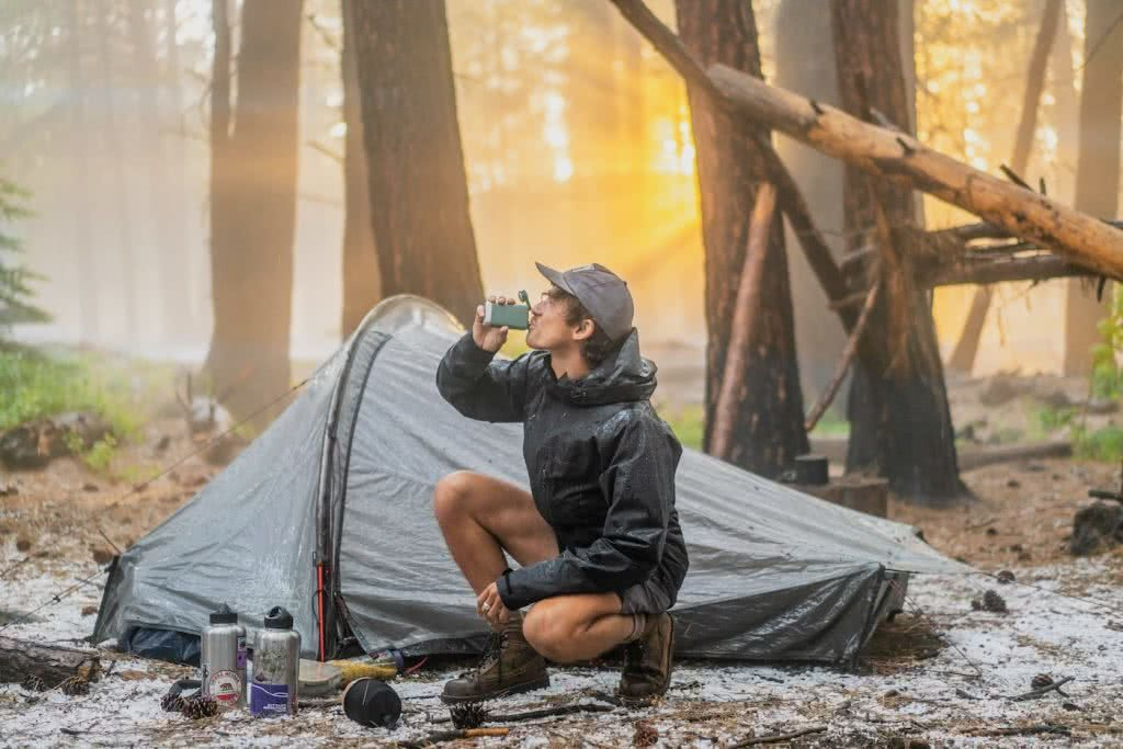 Check Out These Epic Views And Delicious Brews, Nick Kohn, coffee, camping, tent, forest, woods